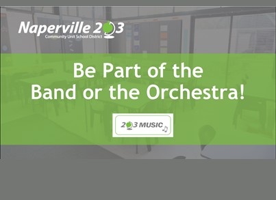 Be a part of the Band or Orchestra