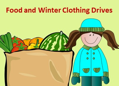 Food and Clothing Drives