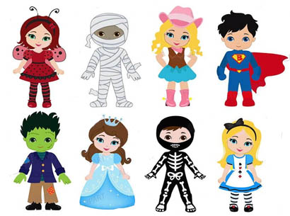 costume parade clipart