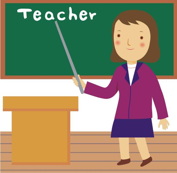 Image of teacher at a chalkboard