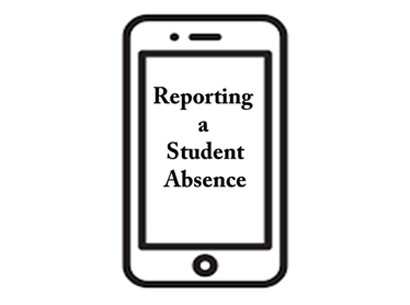 Reporting A Student Absence button