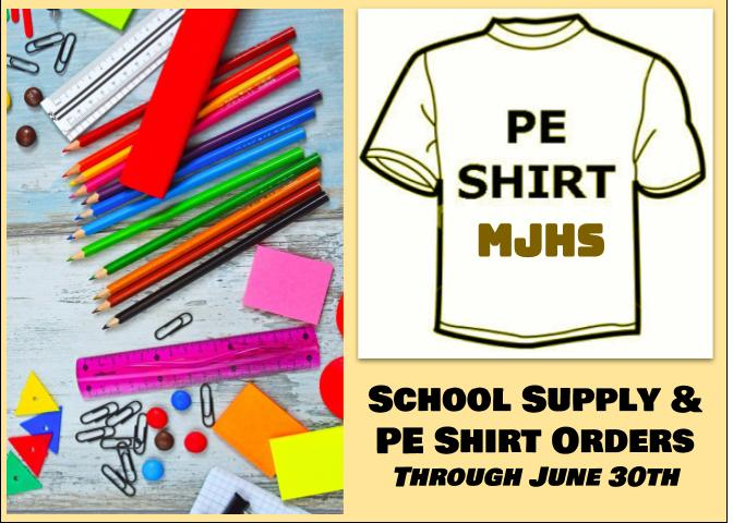 School Supplies/P.E. Uniforms 20-21