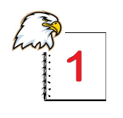 Ellsworth Eagle and notepad with 1
