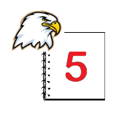 Ellsworth Eagle and notepad with 5