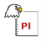 Ellsworth Eagle and Notepad with PI