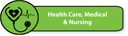 Health Care, Medical & Nursing button