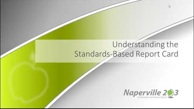 Understanding the Standards-Based Report Card