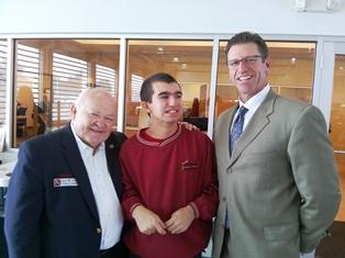 Mayor Pradel and Dan Wolf