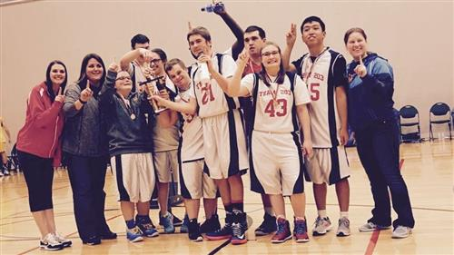 Special Olympics Basketball Team at State