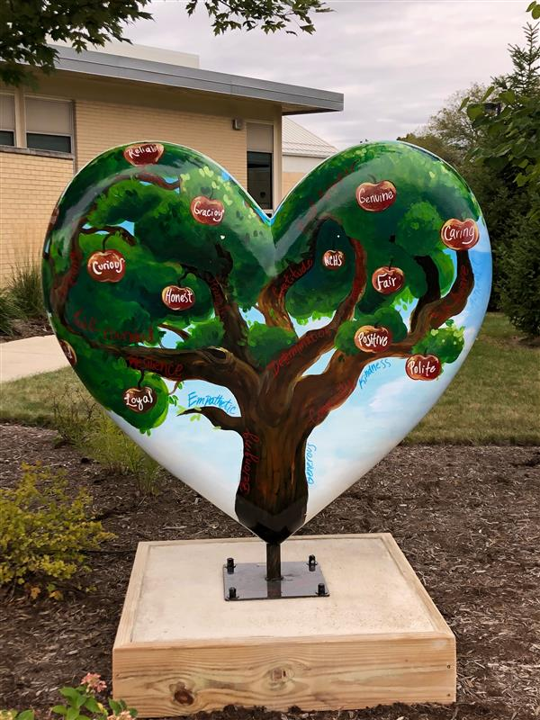 NCHS Heart Sculpture